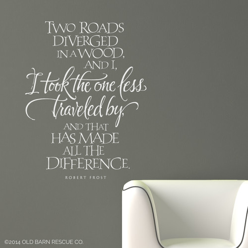 the road less traveled - wall decal