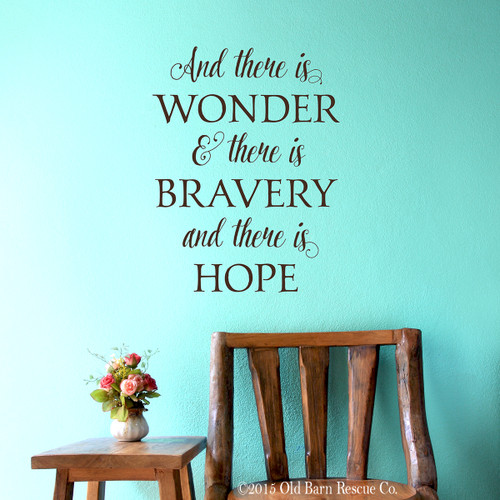 And there is wonder - wall decal