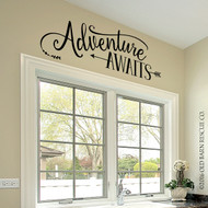 Adventure awaits - wall decal