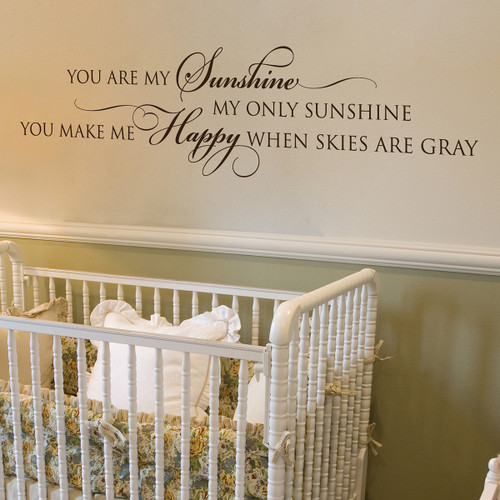 Superb You Are My Sunshine   Wall Decal