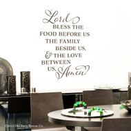 Bless the food before us - wall decal