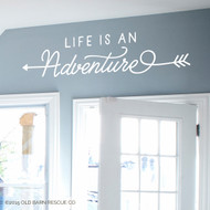 Life is an adventure - wall decal
