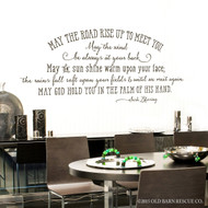 Irish Blessing May The Road  -  Blessings Wall Decal