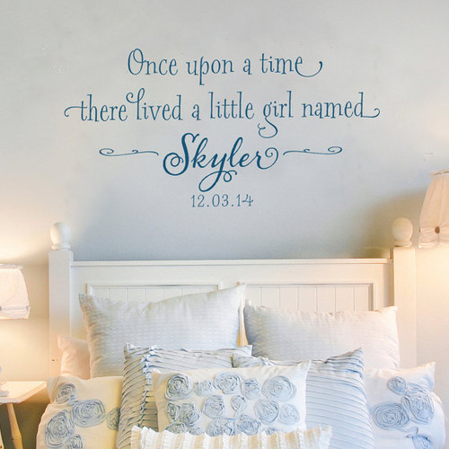 Once Upon A Time There Lived A Little Girl Personalized Wall Decal