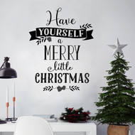 Have yourself a Merry Wall Decal Closeup