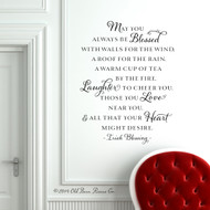 Irish Blessings And Prayers | May You Always Be Blessed |  Wall Decals