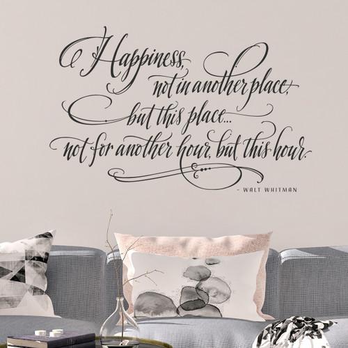 Happiness Walt Whitman Quote