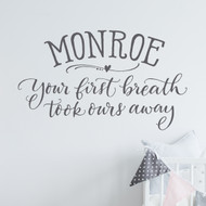 Your first breath Wall Decal