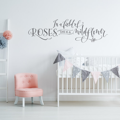 In a field of roses wall decal