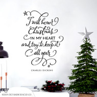 I will honor Christmas wall decal Closeup
