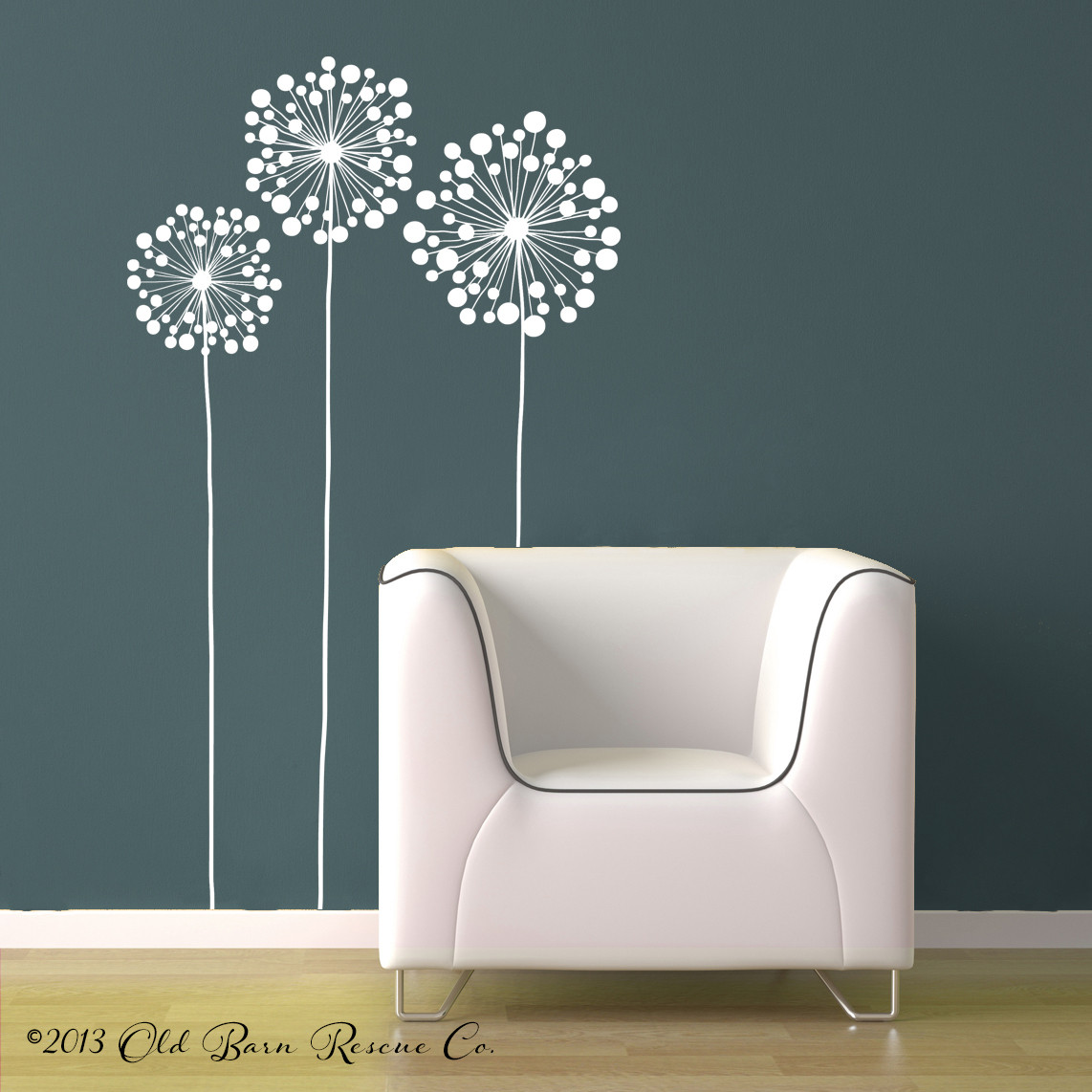 Large Flowers Wall Decal Large Wall Art Old Barn Rescue