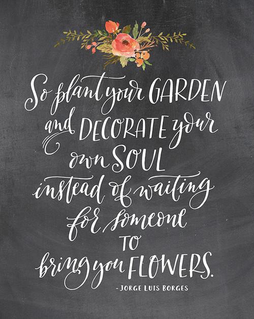 So plant a garden Printable
