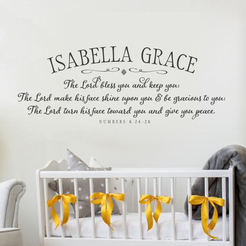 The Lord Bless You Nursery Wall Decal