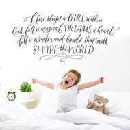 Here sleeps a girl - wall decal