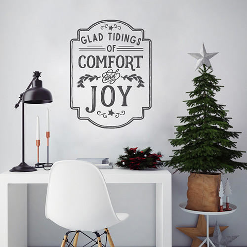glad tidings wall decal
