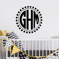 Monogram wall decals - Monogram with Dots