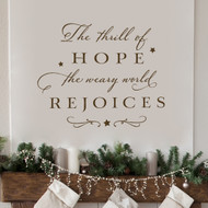 A thrill of hope - Wall Decal