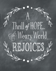 A thrill of hope printable