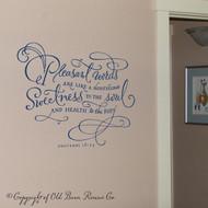 Inspiring Bible quotes - Pleasant words - Vinyl wall art