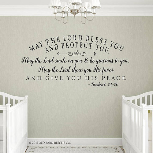 The Lord bless you wall decal