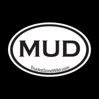 MUD OVAL STICKER - BLACK
