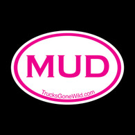MUD OVAL STICKER - PINK