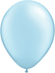 "11"" Qualatex Pearl Pale Blue Latex Balloons 100ct #43777"