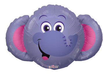 "14"" Mini Elephant Shape Foil Balloon 1ct"