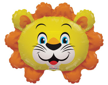 "14"" Mini Lion Head Mini Shape Balloon 1ct"