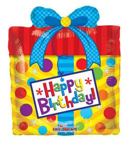 """14"""" Mini Shape Foil Birthday Present Ait Fill  1ct #19747"""