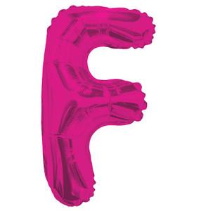 "14"" Mini Hot Pink Letter F Self Sealing"