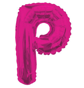 "14"" Mini Hot Pink Letter P Self Sealing"