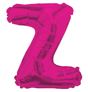 "14"" Mini Hot Pink Letter Z Self Sealing"