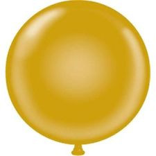 "17"" Tuf-Tex Gold Latex Balloons 72ct"