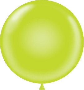 "17"" Tuf-Tex Lime Balloons 72ct"