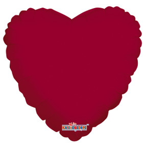 "18"" Burgundy Heart Balloon 1ct #19313"