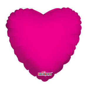 hot pink heart balloons