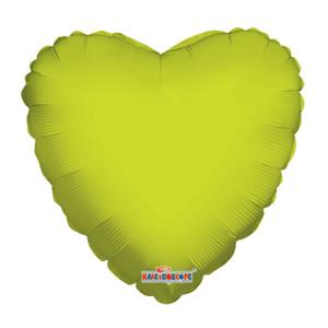 lime green heart balloons