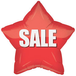 "18"" Red SALE Star Balloon 1ct"
