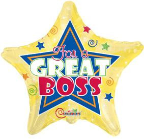 "18"" Boss Day Star Balloon 1ct"