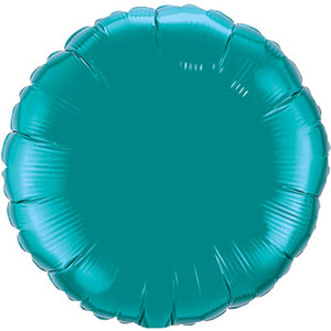 qualatex teal circle foil balloon