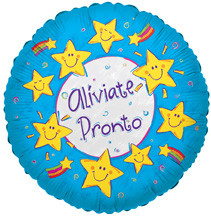 "18"" ALIVIATE PRONTO SMILEY STARS 1ct"