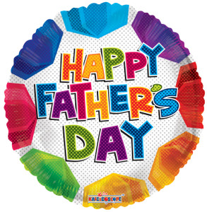 happy father's day balloons multi color