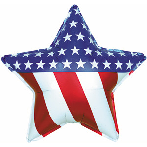 "18"" Patriotic Star Balloon 1ct  #814025"