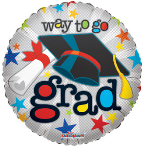 "18"" Graduation Balloons Way to Go Little Circles 1ct #85092"