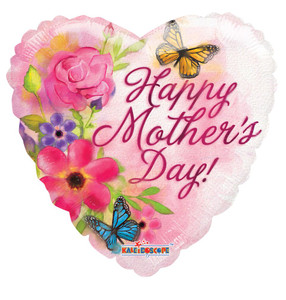 "18"" Happy Mother's Day Water Colors Printed 1-side 1ct #20249"