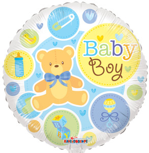 "18"" Baby Boy Foil Balloon 1ct #19532"