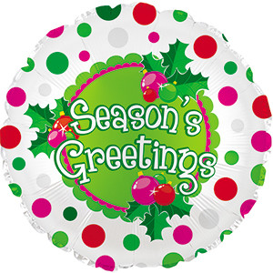 "18"" Seasons Greetings Balloon 1ct"