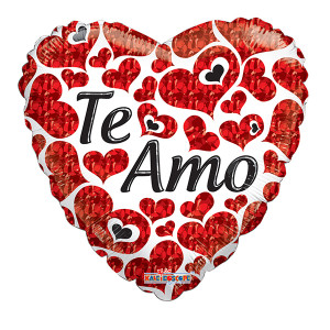 "18"" Te Amo Spanish Love Balloons 1ct"