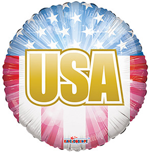 "18"" USA Patriotic Foil Balloon 1ct #87017"